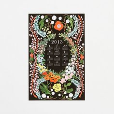Language of Flowers Wall Calendar in House+Home HOME+DÉCOR Stationery at Terrain