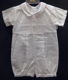 Will'Beth Christening Romper Hat 9M 2 PC Baby Boys Baptism Dedication Cap   eBay