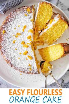 Orange Polenta Cake is a zingy and fresh citrus cake! Much like our Lemon Polenta Cake from our baking recipes  polenta and orange are the stars  of  the dish!