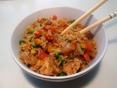 Fried Rice med Kylling