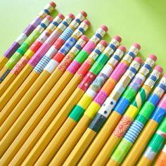 Washi Wrapped Pencils
