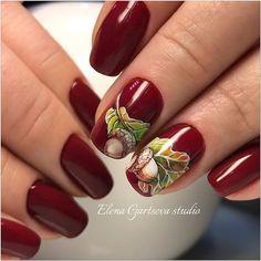 Fall Gel Nails, Autumn Nails, Fall Nail Art, Winter Nails, Pedicure Nail Art, Nail Manicure, New Nail Colors, The Art Of Nails, Seasonal Nails