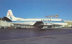 United Vickers Viscount, ATL, 1962. Atlanta Airport, New Aircraft, Air Photo, Aviation Industry, Vintage Airplanes, Let's Have Fun, Civil Aviation, United Airlines, Vintage Travel Posters