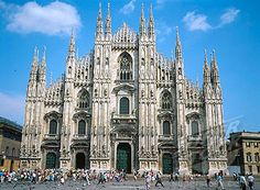 Cathedral of Milan:  Maybe this is the most representative monument of this city. This church, dedicated to Santa Maria Nascente, it's the fourth in Europe for dimensions, and is the symbol of Milan.