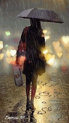 GIF with everyone you know. GIPHY is how you search, share, discover, and create GIFs. Walking In The Rain, Singing In The Rain, Rain Photography, Street Photography, White Photography, Rain Gif, I Love Rain, Girl In Rain, Rain Go Away