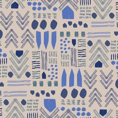 Fabric Love: Lulie Wallace - The English Room Pattern Paper, Pattern Art, Pattern Designs, Pretty Patterns, Color Patterns, Textile Texture, Design Graphique, Illustrations, Pattern Illustration