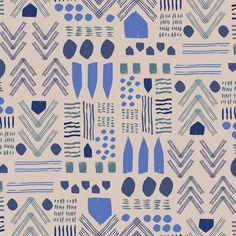 Indigo Zag | Lulie Wallace Fabric for pillows