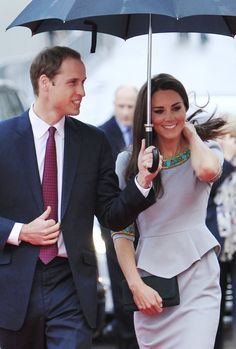 Umbrella   Prince William and Catherine Duchess of Cambridge