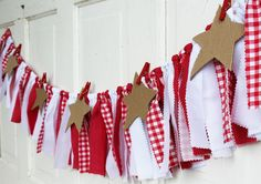 Picnic Garland Picnic Banner Red and White Gingham Rustic Shabby Chic Barn Wedding Decoration Unique Picture Frame Table Banner Country Chic by LiquidStars on Etsy