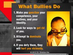 How to survive difficult work place bullies -- you'll recognize these traits from grade school on up. They don't change.