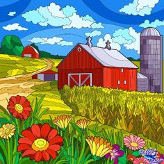 Free Valentine Clip Art, Happy Colors, Paint By Number, Mandala, Doodles, Barn, Quilts, Flowers, Painting