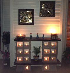 outdoor cinder block table- DIyscoop.com