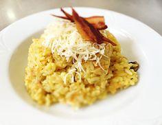 Denné menu Vranov   Rissoto so šampiňónmi a slaninkovými chipsami - reštaurácia Hotel Patriot*** #hotel #restaurant