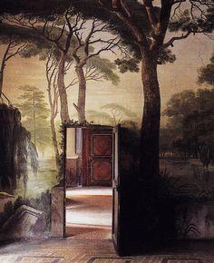 Boschereccia by Rodolfo Fantuzzi, 1810,  indoor painted garden , Bologna, Italy