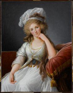 1789 Vigée Lebrun, Portrait of Louise Marie Adelaïde de Bourbon-Penthiève, duchesse d'Orléans, 1789, Oil on canvas, 108 x 94 cm (Versailles)