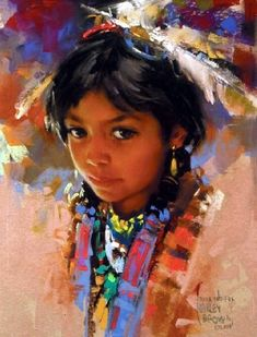 """""""I am a Child""""  Anna Two-Fox -  by Harley Brown"""