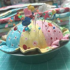 YaY! Today is tutorial day... do you want to make a pincushion? I've been playing with my new Bake Sale 2 fabric collect...