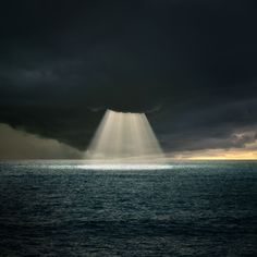 """♂ Solitude nature light ray from the dark cloud...would love to have been the one taking this shot- very spiritual....""""The Power of Him"""" by Carlos Gotay"""