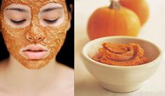 Homemade Pumpkin Face Mask Recipe ~ Natural Homemade Facial Masks For Acne, Facial Mask Recipes