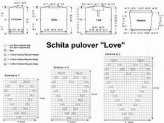 Schita Pulover Love