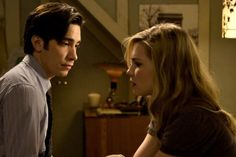 Justin Long and Alison Lohman share a quiet moment in Drag Me To Hell