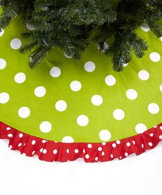 Take A Look At This Green Oxygen Ruffle Tree Skirt By Caught Ya Lookin On