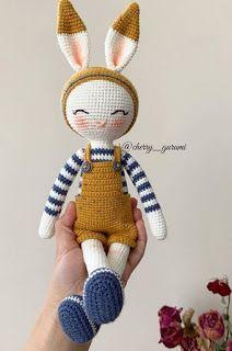 Crochet Slipper Pattern, Crochet Slippers, Crochet Patterns, Crochet Baby Toys, Crochet Dolls, Knit Crochet, Pattern Cute, Crochet Rabbit, Bunny Plush