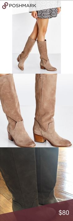 Dolce vita Garnett tall boots taupe size 7.5 Dolce vita Garnett taupe tall boots size 7.5. In EEUC! Worn one time outside. Just a little too big for my feet. Retailed for $200 at Nordstrom. Dolce Vita Shoes Heeled Boots