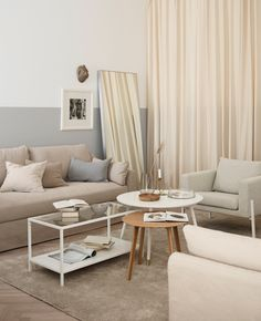 The essential elements of stylist Susanne Swegen's dream living room? Organic tones and textures, flowing textiles, and mirrors and glass to reflect it all. #IKEAIDEAS Ikea Living Room, Small Living Rooms, Interior Design Living Room, Living Room Furniture, Ikea Sofa, Stylish Home Decor, Living Room Remodel, Living Room Inspiration, Architecture