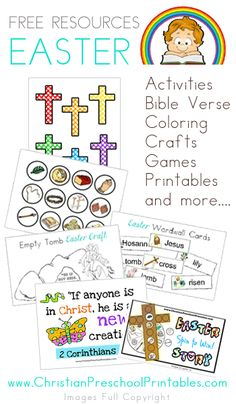 Tons of Easter Resources: Coloring, Verse Cards, Games, Printable Resurrection Eggs and More: