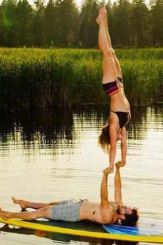 Own a paddle board, Learn yoga. paddle and do SUP yoga with my man <3  Yes, please! =)