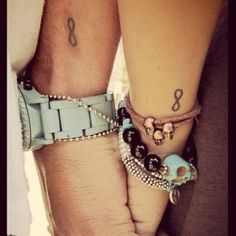 Matching infinity tattoos (might get this with coby, one of our options) smaller and on the wrist more