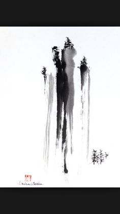 Page 8 « Online image Gallery of fine hand-painted Sumi-e artworks Chinese Landscape Painting, Japanese Painting, Chinese Painting, Japanese Art, Sumi E Painting, Artist Painting, Tinta China, Art Brut, Japanese Calligraphy
