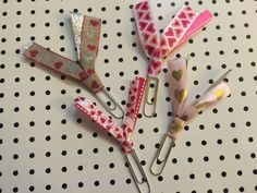 Valentine's Ribbon Clips by BookmarkBitches on Etsy