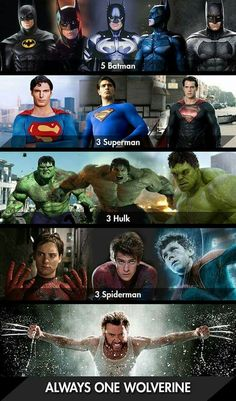 Batmen, Supermen, Spidermen, ;)