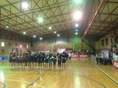 At Potchefstroom campus: Singing of the national anthem, atmosphere is tangible. Go Pukke! Image supplied by North-West University. North West University, National Anthem, Singing, Image