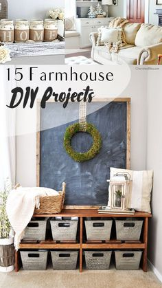 Farmhouse decor, fall decor, DIY home decor, easy home decor, popular pin, decorating tips, DIY home, decor.