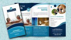 Trifold Brochure Design for Client Adapt-A-Bath