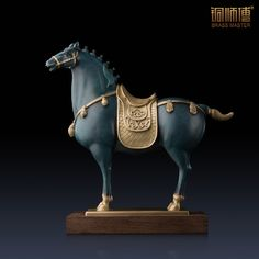 """Royal Tang Dynasty Horse"" Copper Handicrafts Chinese Art CraftS Decoration Home Office Room Furnishing Animal Ornament Size S. Subcategory: Home Decor. Chinese Crafts, Chinese Art, Horse Sculpture, Animal Sculptures, Office Ornaments, Horse Armor, Horse Accessories, Animal Decor, Asian Art"