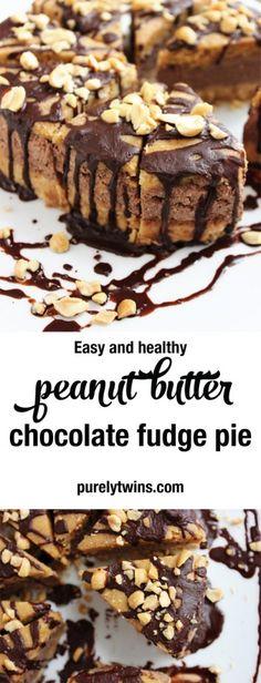 {no bake} peanut butter chocolate mousse fudge cake
