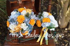 blue and orange nautical weddings | Fall Country / Nautical / Blue Orange & by TrishBaileyDesigns, $85.00