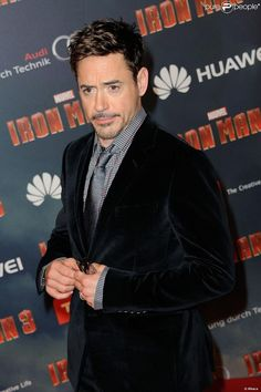 Robert Downey Jr. on the Iron Man 3 international press tour, 2013.