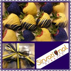 Blue and gold strawberries