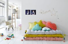 playroom reading nook cushions kids space