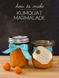 Quick Kumquat Honey Marmalade Recipe - a great DIY holiday gift!