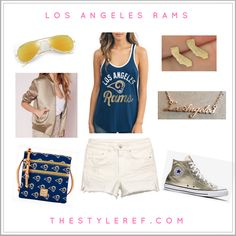 #TSRGamedayStyle outfit inspiration for #LA Rams fans.
