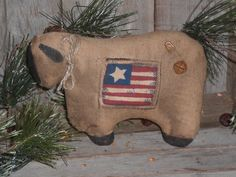 1 Primitive Rustic Americana Patriotic USA Flag by ChooseMoose, $4.99