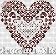 Foto Cross Stitch Heart, Punto De Cruz, Hearts, Pictures