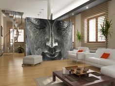 Wall Mural Ideas for Home Decor, like the cubby holes but how does this wall stay up?