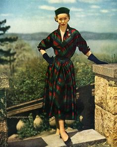 Enka Rayon / Dress by Kane-Weill 1951